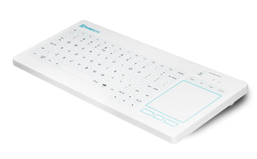 PUREKEYS Kompakttastatur mit Touchpad