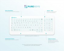 Purekeys medizinische Tastatur qwertz Aufsicht