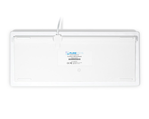 Purekeys 40004900 Kompakte Hygienetastatur weiß Boden