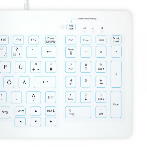 Purekeys 40004900 kompakte Hygienetastatur weiß Nummern-Block