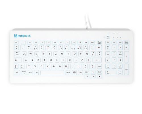 Purekeys 40004900 kompakte Hygienetastatur weiß Draufsicht