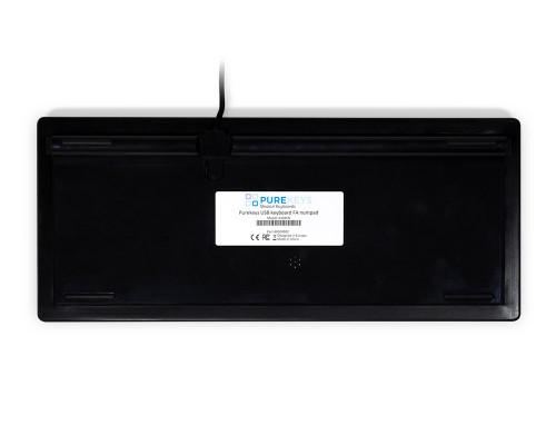 Purekeys 40004902 kompakte Hygienetastatur schwarz Boden