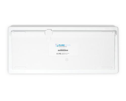 Purekeys 40404900 Kabellose kompakte Hygienetastatur weiß Boden