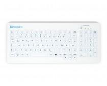 Purekeys 40404900 Kabellose kompakte Hygienetastatur weiß Draufsicht