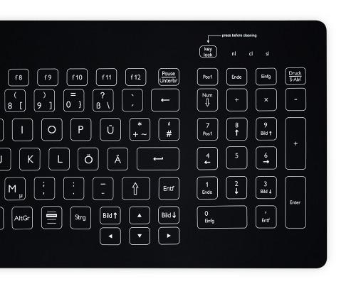 Purekeys 40404902 Kabellose kompakte Hygienetastatur schwarz Nummern-Block