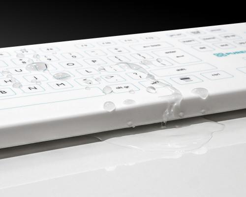 Purekeys 50004900 kabellose Hygienetastatur mit Flüssigkeit