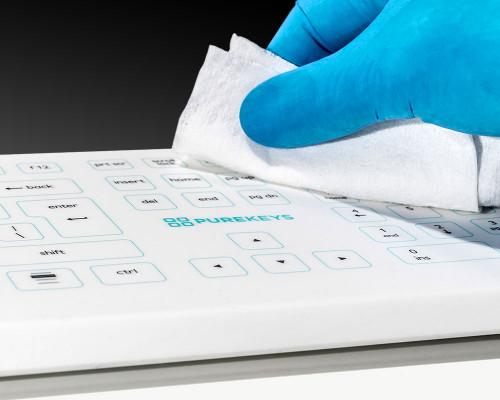 Purekeys 50004900 kabellose Hygienetastatur Wischdesinfektion