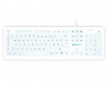 Purekeys 50504900 Hygienetastatur weiß mit USB-Kabel Draufsicht