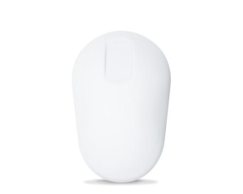 Purekeys Hygienemaus kabellos TouchScroll Topansicht weiß