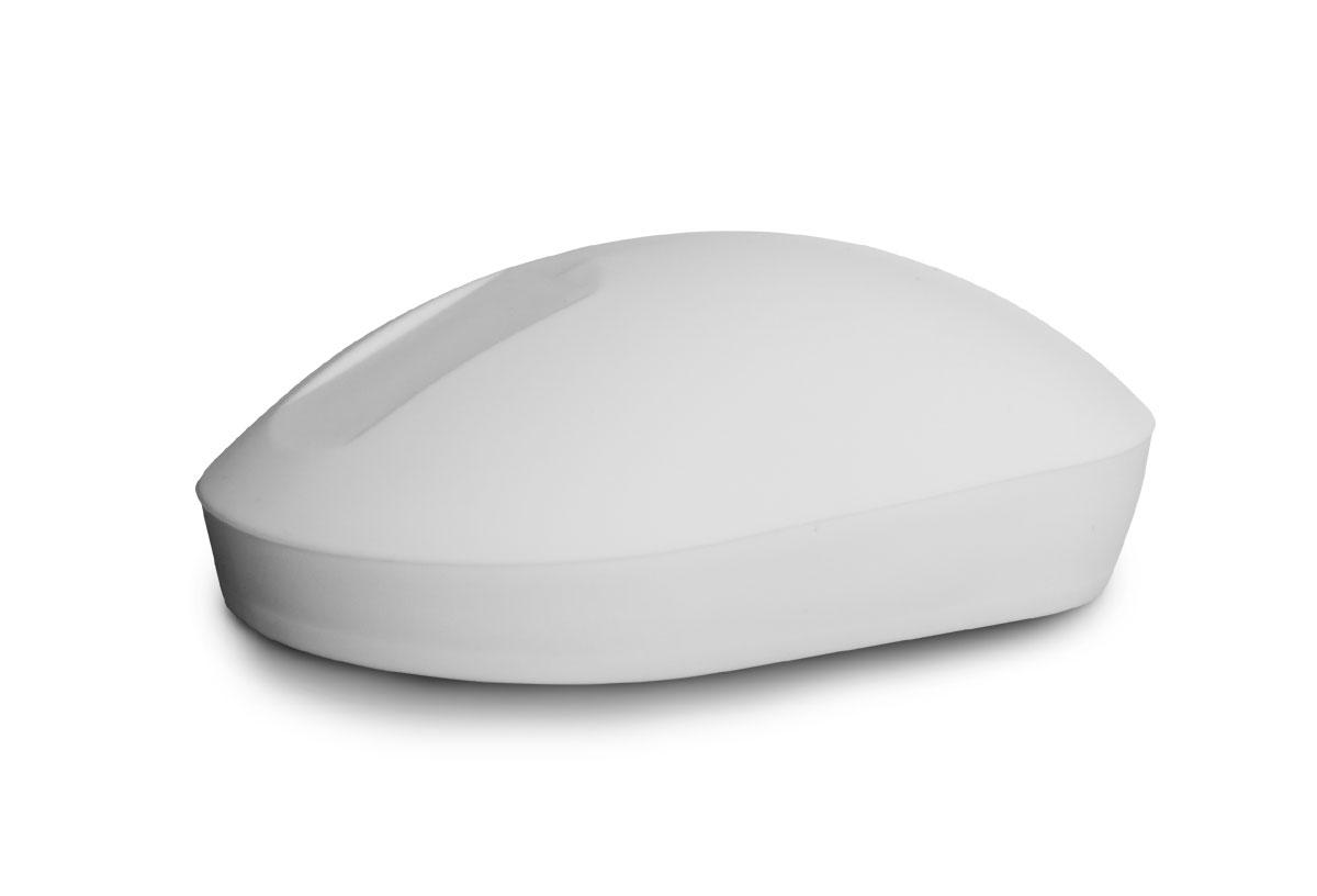 seitliche Ansicht auf die Purekeys Maus mit Touch Scroll