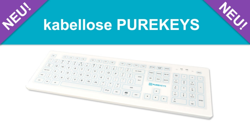 Die neue kabellose Purekeys Hygienetastatur