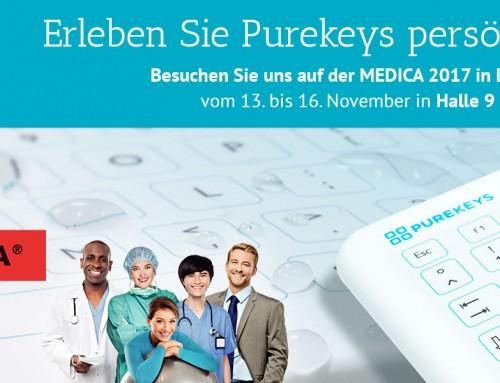 Medica 2017 Hygiene: Purekeys zeigt einzigartige Hygienetastatur für Ärzte, Zahnärzte und Kliniken