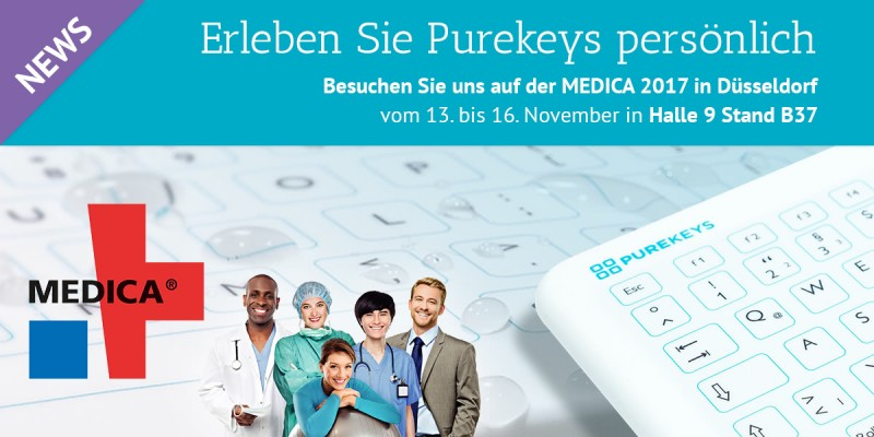 Bild MEDICA 2017 - Purekeys Hygeinetastatur Pressemeldung