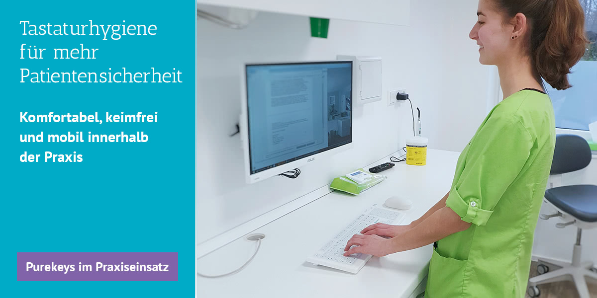 Slider PUREKEYS Tastaturhygiene für mehr Patientensicherheit